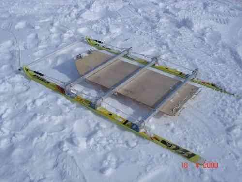 Как сделать нарты из лыж